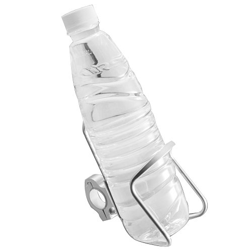 "1X Universal Adjustable Chrome Billet Aluminum Bar Mount Water Bottle Beverage Drink Bottle Cup Holder 7/8"" Handlebar For Dual Sport Street Bike Atv Cruiser Chopper Touring Motorcycle front-713658"