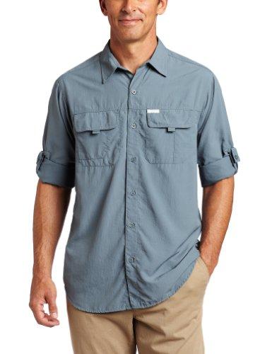 Columbia Men's Silver Ridge Long Sleeve Shirt (Metal, Large)