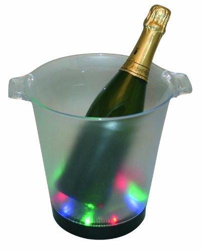 Seau à Champagne Transparent Lumineux, avec 2 poignées