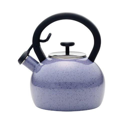 Paula Deen Signature Teakettles Enamel On Steel 2-Quart Whistling Teakettle, Lavender