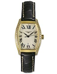 On Sale Longines Evidenza 18kt Gold & Diamond Womens Luxury Strap Watch L2.155.7.71.2 Special offer