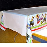 Creative Converting 54 x 108 Inch Plastic Caribbean Parrot Party Table Cover - Case of 12