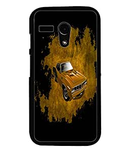 PrintDhaba Car D-4402 Back Case Cover for MOTOROLA MOTO G (Multi-Coloured)