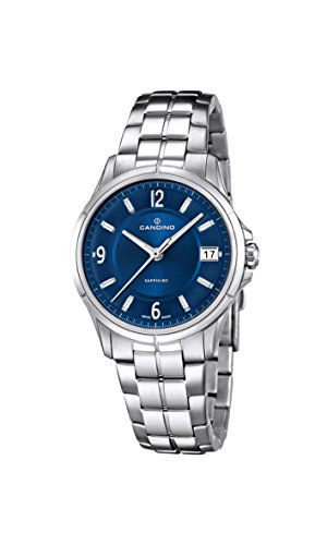 Candino Women's Quartz Watch with Blue Dial Analogue Display and Silver Stainless Steel Bracelet C4533/2