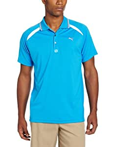 Puma Golf Men's Laser Cut Polo, Brilliant Blue, Small