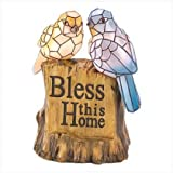 Blessing Birds Solar Light Up Statue Bless This Home