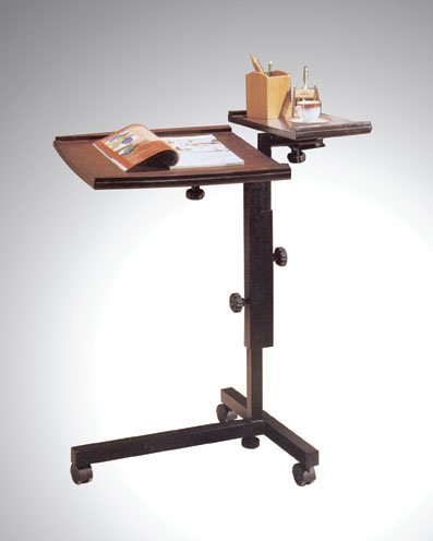 Adjustable Mobile Espresso Laptop Computer Caddy Cart Stand front-734395