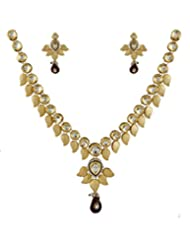 Anuradha Art Gold Kundan Necklace Set For Women - B014HDH0BM