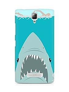 Amez designer printed 3d premium high quality back case cover for Lenovo A2010 (Sharkweek)