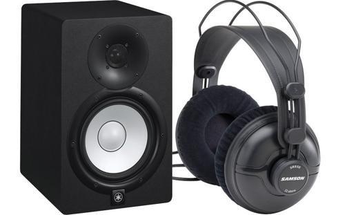 Yamaha Yamaha Hs7 Active Monitor W/ Samson Sr950 Studio Headphone (Single) Package