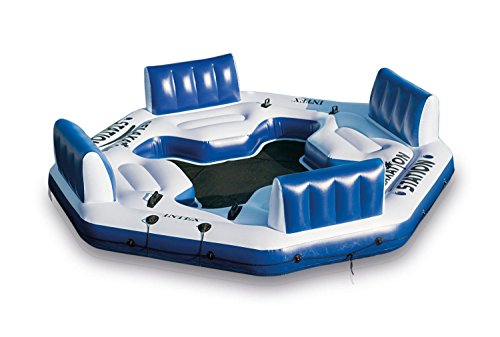 NEWIntex Pacific Paradise Relaxation Station Water Lounge 4-Person River Tube Raft