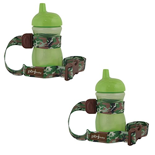 PBnJ SippyPal - Holds Sippy Cups, Bottles, Toys and More - 2 Pack (Camo) - 1