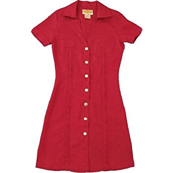 Women's Dark Red-Pleated Guayaber....size Extra Small