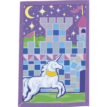 Unicorn and Castle Foamies Mosaic Art Kit