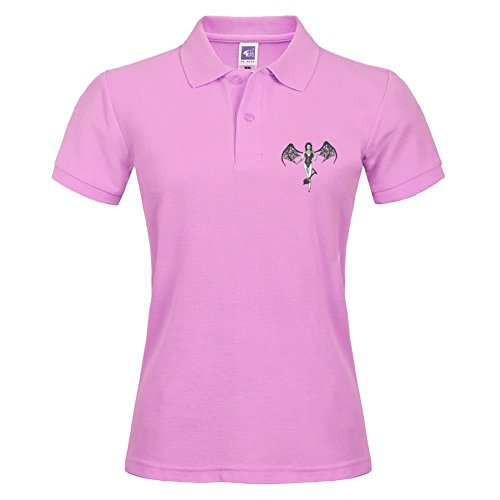 Pink Sexy She Devil Short Polo Shirt New Arrival Small T-shirt For Women Autumn Wear