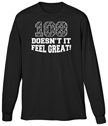 Blittzen Mens LS 108 Years Doesn't It Feel Great, XL, Black (Jake Goodman compare prices)