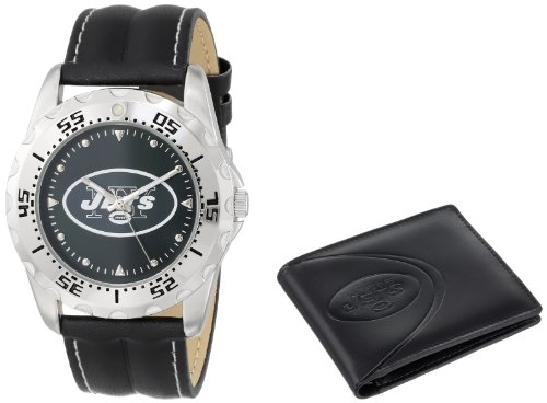 Game Time Unisex NFL-WWS-NYJ Wallet and New York Jets NHL Watch Set at Amazon.com