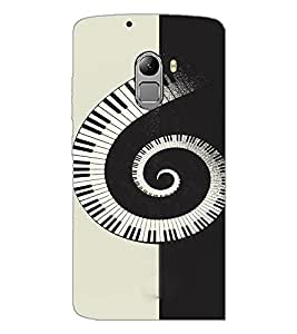 PrintDhaba Piano Pattern D-4466 Back Case Cover for LENOVO K4 NOTE A7010 (Multi-Coloured)