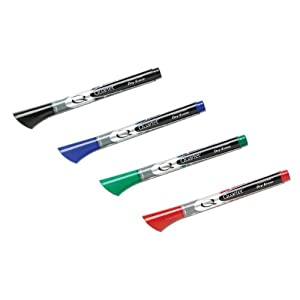 Quartet EnduraGlide Fine Tip Dry-Erase Markers, Assorted Colors, 4 Pack (5001-10M)