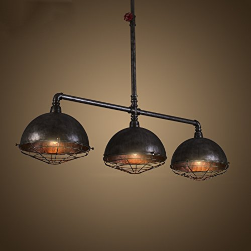 Industrial Vintage Retro Linear Pipe Designed Chandelier