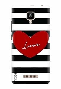 Noise Designer Printed Case / Cover for Lava A48 / Patterns & Ethnic / Love Stripes Design