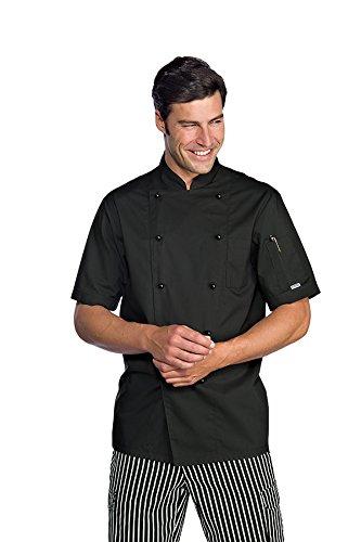 Isacco cuoco Extralight Chef-Giacca a maniche corte, colore: nero nero S