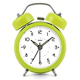Modern Fashion Lovely Colorful Metal Alarm Clock Olive Green 888