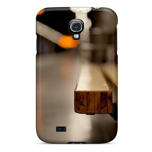 Premium Tpu Lights Long Wooden Chair Cover Skin For Galaxy S4 back-786832