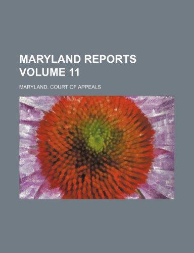 Maryland reports Volume 11