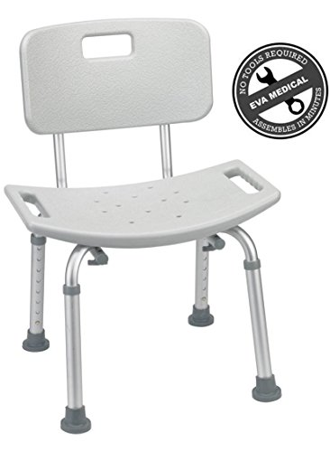 2016 Tool-free Spa Bath Tub Bathtub Shower Chair Seat Bench with Back (Bench Shower compare prices)