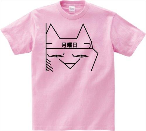 月曜日 半袖Tシャツ ピンクS