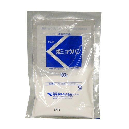 ケンエー 硫酸アルミニウムカリウム(乾燥) (焼ミョウバン) 100g