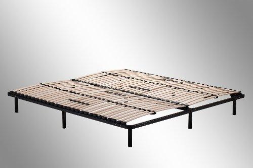 sakaka sommier lattes 160x200 lit hospitalier convient pour tous les matelas. Black Bedroom Furniture Sets. Home Design Ideas