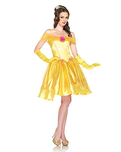 Princess Belle Womens Costume Beauty And The Beast Sexy Yellow Disney Adult