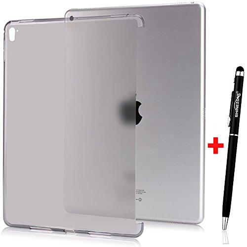 ShineZoneオリジナルiPad Pro 9.7 ケース 極薄 ソフト 簡約風 超軽量 耐衝撃 TPUケース 半透明 スマートキーボード/カバーに対応したデザイン (グレー)