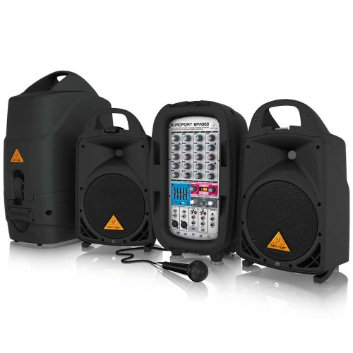 Behringer Europort Epa300 Ultra-Compact 300-Watt 6-Channel Portable Pa System With Digital Effects And Fbq Feedback Detection