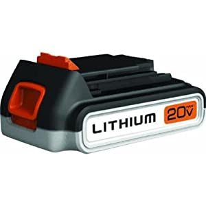 Black & Decker LBXR20 20-Volt MAX Extended Run Time Lithium-Ion Cordless Tool Battery