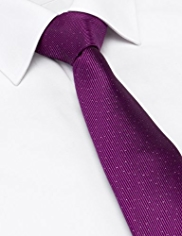 Autograph Silk Rich Textured Striped Tie