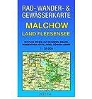 Malchow - Land Fleesensee 1 : 35 000 Rad-, Wander- und Gew?sserkarte: Mit Plau am See, Alt Schwerin, Zislow, Nossentiner H?tte, Jabel, G?hren-Lebbin (Sheet map)(German) - Common