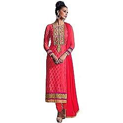 Stylo Fashion Women's Un-Stitched Dress Material (Orange_Free Size)