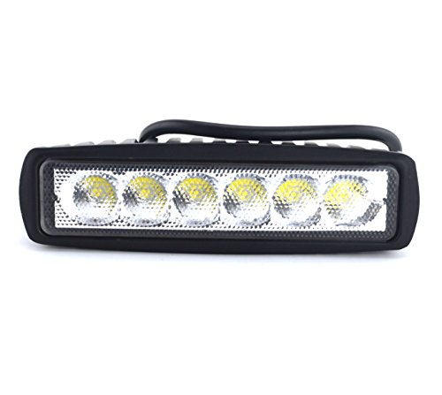 Samyo Slim 18W Cree Led Flood Light Work Light Atv 4X4 Off Road Light Fog Driving Bar Truck Suv Car, 2 Pcs