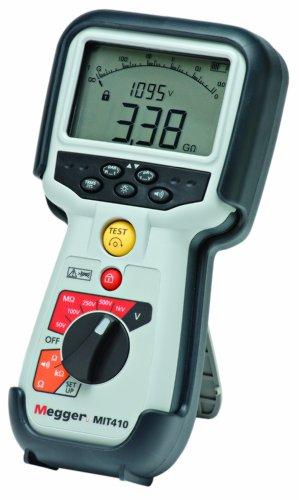 Megger Mit410-En Insulation Tester, 100 Gigaohms Resistance, 50V, 100V, 250V, 500V, 1000V Test Voltage