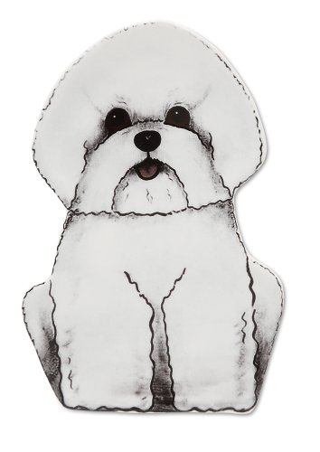 Rescue Me Now Bichon Spoon Rest, 7-Inches