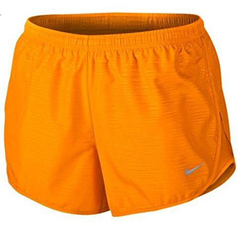 "Nike Women's 3"" Tempo Modern Embossed Running Short Vivid Orange/Reflective Silver Shorts XS X 3"