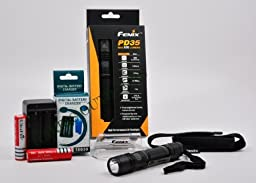 Fenix PD35 850 lumen led flashlight - Ultimate Package with 2 x 18650 Batteries & Charger