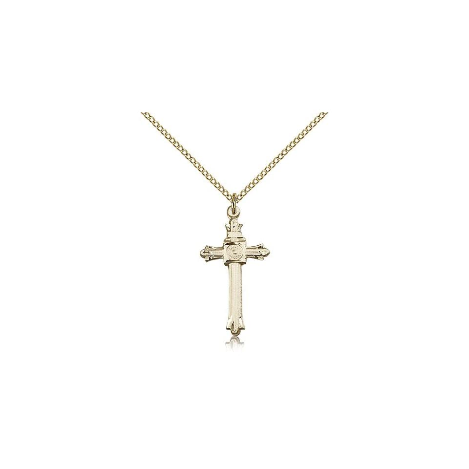14kt Gold Filled Guardian Angel NatL Guard Pendant with 18 Gold Filled Lite Curb Chain.