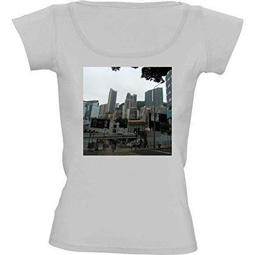 t-shirt-pour-femme-blanc-col-rond-taille-l-gratte-ciel-de-hong-kong-4-by-cadellin