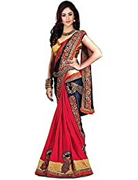 Indian E Fashion Women's Faux Georgette Party Wear Fancy Saree With Blouse Piece (KUKIMORE-sarees For Women Party...