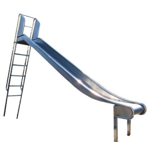 Edelstahl-Rutsche mit Leiter, Podestöhe 1.55-1.50m - öffentlich