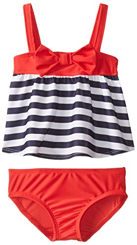 Baby Buns Baby-Girls Infant Red Bow Americana Swimsuit